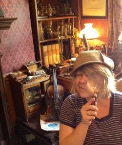 Mary Jo Watts at The Sherlock Holmes Museum in London