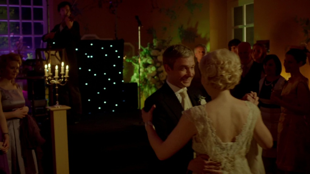 Sherlock Playing His Waltz for John and Mary (from The Sign of Three) (Used with kind permission from Hartswood Films)