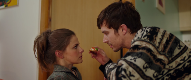 Louise Brealey (as Stella) and Nico Rogner (as Jacques) in Delicious. (Used with permission.)