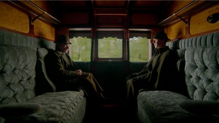 "Sherlock, ""The Abominable Bride"". Left to right: Martin Freeman (Dr. John Watson) and Benedict Cumberbatch (Sherlock Holmes)"